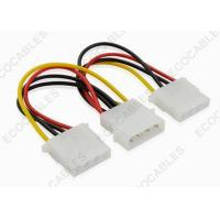 Buy cheap SATA 4pin Y Power Extension Cables For SATA HDD 4 pin Molex Male / 2x 4pin Molex Female from wholesalers