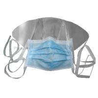 Buy cheap Surgical Tie Face Mask Disposable Protective Wear With Anti Fog Plastic Shield from wholesalers