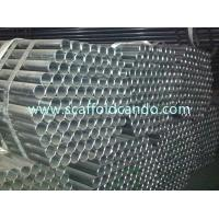 Buy cheap Scaffolding construction use hot dipped galvanized scaffolding steel pipe, galvanized pipe painted 6000MM length from wholesalers