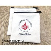 Buy cheap Canvas Zipper Bags Canvas Pencil Case Blank DIY Craft Bags Cosmetic Pouch Makeup Bag for Travel DIY Craft School product from wholesalers