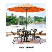 Buy cheap Casting aluminum dining chairs and table / garden metal chairs and table from wholesalers