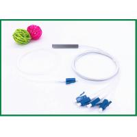 Buy cheap Fiber Optic PLC Splitter 1x4  mini Steel Tube with LC / UPC connector FTTH from wholesalers