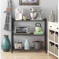 Buy cheap Supreme 3 Tier Metal Wire Storage Shelves And Leveling Feet - Black from wholesalers
