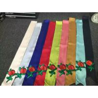 Buy cheap 2017 little neck Imitated Silk satin fabric fashion office ladies uniform tie print ribbon scarf 6*120cm 10g from wholesalers