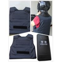 Buy cheap Military Police Lightweight Bullet Proof Vest / Concealable Stab Proof Vest Soft Body Armor from wholesalers
