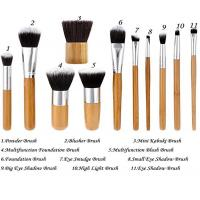 Buy cheap 11 Pieces Bamboo Makeup Brushes With Handle , Ecotools Foundation Brush product