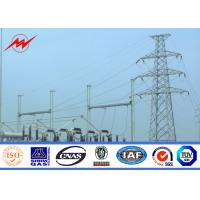 Buy cheap BV Certification 20M Galvanized Steel Pole Steel Power Poles For Power Transmission from wholesalers