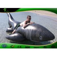 Buy cheap PVC 0.4mm Inflatable Water Toys Black Shark Pool Balloon 3 meters Long ASTM from wholesalers