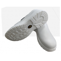 Buy cheap Anti Static Safety Shoes Low Top White Steel Toe Anti Smash And Anti Puncture product