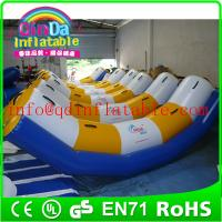Buy cheap Guangzhou QinDa inflatable water park water inflatable seesaw water teeterboard from wholesalers