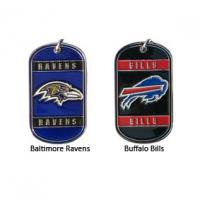 Buy cheap Zinc Alloy Cast Metal Dog Tags With Embossed And Color Filled NFL Team Logos from wholesalers