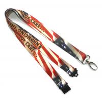 Buy cheap Breakaway Heat Transfer Print Lanyard With Egg Hook , Amercian Flag Lanyards from wholesalers