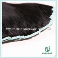 Buy cheap Tape Hair extension 16-28 100s/pack 1# color Straight malaysian virgin hair from wholesalers
