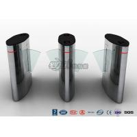 Buy cheap Waist Height Access Control Turnstile Barcode Flap Barrier for Museum product