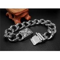 China Shopping Gift Stainless Steel Bangle Bracelets With Square Buckle Charm Bracelets on sale