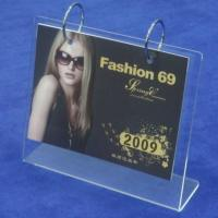 Buy cheap Transparent Acrylic Calendar Holder Frames A5 L Type For Home product