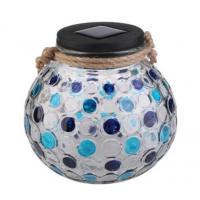 Buy cheap Colour Changing Solar Garden Lights , Blue / Green Diamond Glass Jar Solar Lights from wholesalers