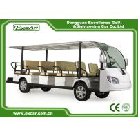 Buy cheap EXCAR White 14 Seater Electric Sightseeing Cart  electric Tour Bus from wholesalers