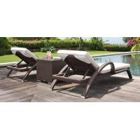 Buy cheap Modern Outdoor garden wicker furniture beach chair PE Rattan Chaise lounge chair from wholesalers