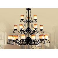 Buy cheap Candle Blown Glass Shade Traditional Large Hotel Chandeliers for Hall / Foyer from wholesalers