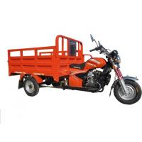 Buy cheap Red Chinese Three Wheel Motorcycle , Cargo Motorized Tricycle Single Cylinder Engine from wholesalers