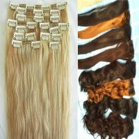 Buy cheap 100% remy hair clip in hair extensions for african american from wholesalers