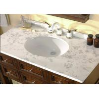 Professional White Custom Marble Vanity Tops Oval Cutout For Hotel Bathroom