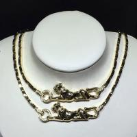 Buy cheap 18K Yellow Gold High End Custom Jewelry Cartier Panther Necklace With Diamonds / Lacquer product