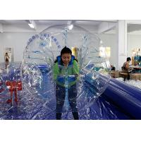 Buy cheap Giant Human Football / Soccer Inflatable Bubble Ball TPU / PVC Material from wholesalers