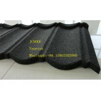 Buy cheap Stone Coated Metal Roof Tile size 1300*420mm Thickness 0.45mm Roman Tile JC109 Green Black from wholesalers