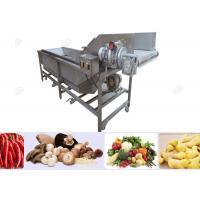 Bubble Type Ozone Vegetable Washing Machine , Strawberry Cherry Fruit Washing Equipment