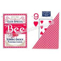 Buy cheap Eco - Friendly Bee Wide Size Marked Poker Cards / Jumbo Index Playing Cards from wholesalers