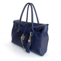 Buy cheap Lady Style First Layer Cowhide Leather Blue Shoulder Bag Handbag #2659  from wholesalers