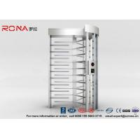 Buy cheap High Security Full High Turnstile Access Control With Biometric Reader With CE Approved from wholesalers