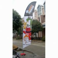 Buy cheap Decorative Custom Advertising Flags And Banners With Poles + Cross Base + Carry Bag from wholesalers