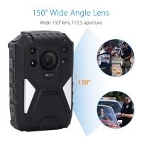Buy cheap 1296P HD 150 Degree Wide Angle Recording Wearable Video Body Worn Camera Bulit In GPS product