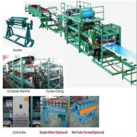 Buy cheap 32KW 380v Sandwich Panel Production Line Foam Composite Board Roll Forming Machine With PLC Control from wholesalers