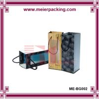 Buy cheap High Quality Elegent logo bottle wine bag with window ME-BG002 from wholesalers