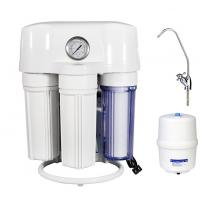 White Plastic R75gpd 6 Stage Reverse Osmosis Water Filtration System PP & T33 & COPTIRE MEMBERANCE