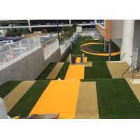 Buy cheap Polyethylene Yellow Weaves Artificial Grass Synthetic Lawn Turf product