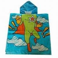Buy cheap Kid's Hooded Poncho Towel, Made of 100% Cotton from wholesalers