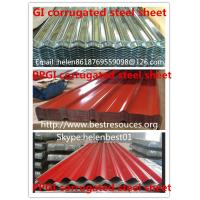 Buy cheap 0.50mm*840mm*4000mm roof plate PPGI corrugated steel sheet from wholesalers