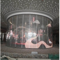 Buy cheap TOPLED 800-1500CD brightness glass Transparent led display screen P3.91-7.81 indoor from wholesalers