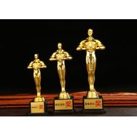 Buy cheap Metal Standing Award Cups Trophies Wood Base Type For Oscar Custom Logo Accepted from wholesalers