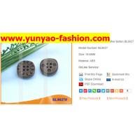 Buy cheap Factory Plastic Imitation Leather shank button for coat from wholesalers