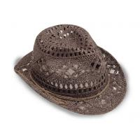 Buy cheap Fashion Hollow Shell Embellished Cowboy Straw Hat from wholesalers
