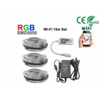 Buy cheap 15m Non Waterproof +Wifi Rgb 5050 Smd Led Strip With 12V Power from wholesalers