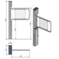 Buy cheap Security Swing Arm Turnstile Waist High Barrier Turnstile with remote control switch product