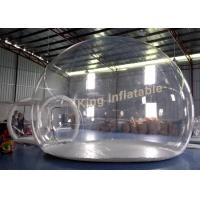 Buy cheap 0.65mm PVC Transparent Inflatable Tent Clear Air Bubble Tent With Single Layer from wholesalers