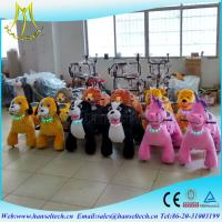 Buy cheap Hansel hot sale funny stuffed animals scooters in mall unicorn electric ride from wholesalers